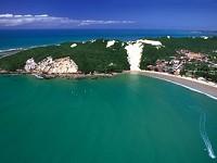 La plage de Ponta Negra à Natal