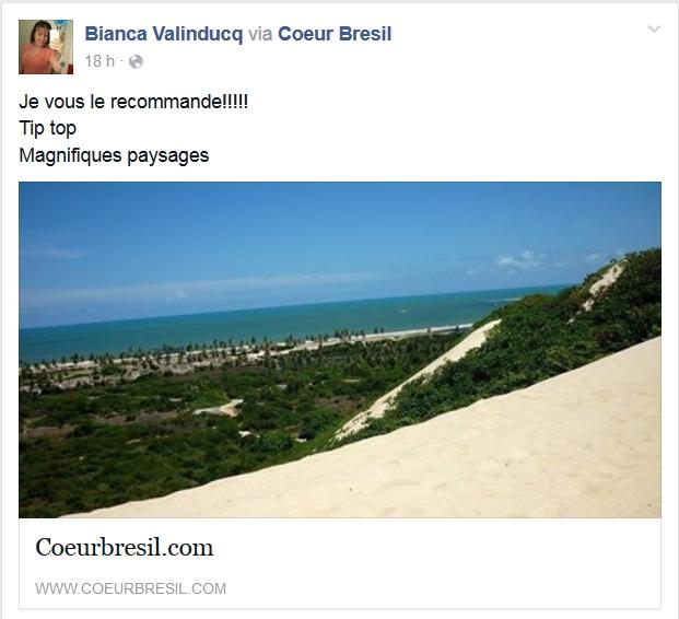 coeurbresil.com Je vous le recommande ! Tip top Magnifiques paysages