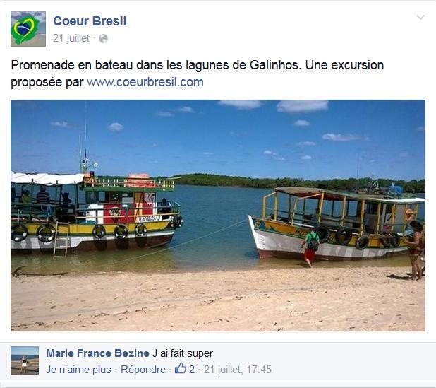 """avis sur excursion coeurbresil.com à Galinhos : """"J'ai fais, super !"""""""