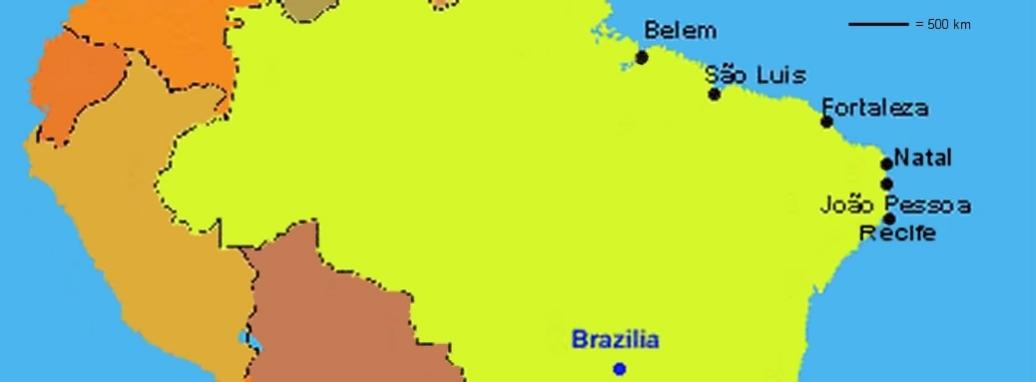 Carte du Nordeste Brésil